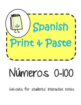 Spanish Interactive Notebook Numbers Numeros