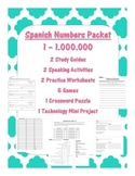 Spanish Numbers Packet