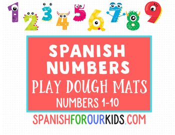 Spanish Numbers Play Dough Mats - Numbers 1-10