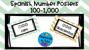 Spanish Numbers Posters!