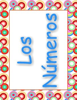 Los Numeros Spanish Numbers Posters 1-20 ( 30-100 ) by 10'