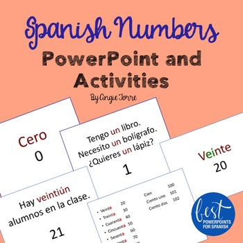 Spanish Numbers PowerPoint and Activities