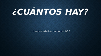 Spanish Numbers PowerPoint for Classroom Practice