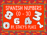 Spanish Numbers Powerpoint (0-31)