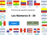 Spanish Numbers Practice (0 – 30) HTML