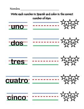 Spanish Numbers Practice 1-10