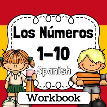 Spanish Numbers Practice 1-10 worksheets. Los números 1-10 en Español, fichas
