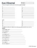 Spanish Numbers Practice 1-30