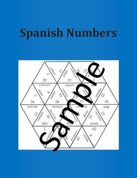 Spanish Numbers 1 -30  – Puzzle