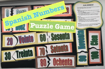 Spanish Numbers Puzzle Game