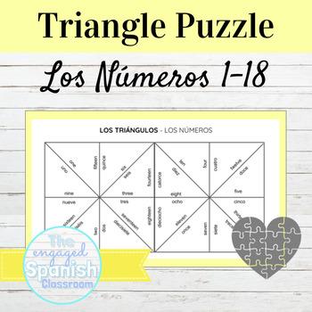 Spanish Numbers Puzzle Los Números 1-18