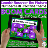 Spanish Numbers Digital Activity Uncover the Picture Boom
