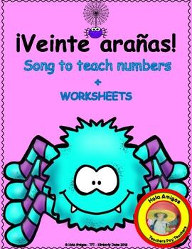 Spanish Numbers - Veinte Arañas