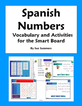 Spanish Numbers Vocabulary, Games and Activities NOTEBOOK