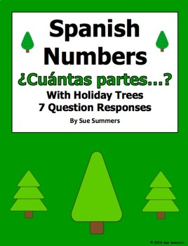 Spanish Christmas Numbers and Holiday Trees ¿Cuántas Partes Tiene...?