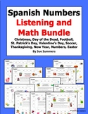 Spanish Numbers and Math Listening Activity Bundle of 9