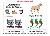 Spanish Numbers and Pets 2 Booklets - Cuantos Hay?