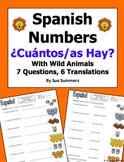 Spanish Numbers and Wild Animals Vocabulary - ¿Cuántos hay?