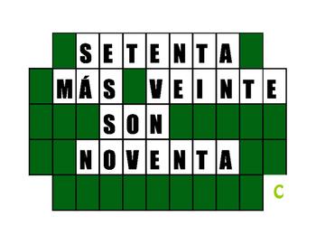 Spanish Numbers to 1-100 Wheel of Spanish