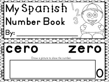 Spanish Numbers to 20 Mini Pack {Student Book and Flashcards}