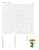 Spanish Numbers up to 100 Word Search