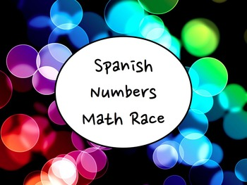 Spanish Numbers (zero-millions) Differentiated Math Race Game