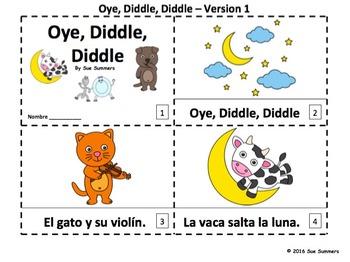 Spanish Nursery Rhyme Hey Diddle Diddle 2 Emergent Reader