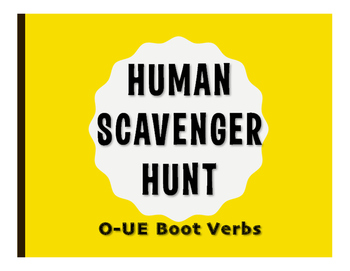 Spanish O-UE Boot Human Scavenger Hunt