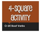 Spanish O-UE Boot Verb Four Square Activity