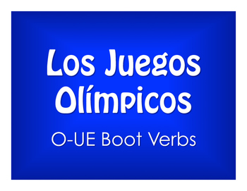 Spanish O-UE Boot Verb Olympics