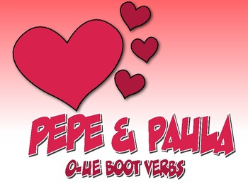 Spanish O-UE Boot Verb Pepe and Paula Reading