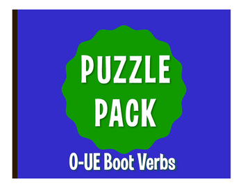 Spanish O-UE Boot Verb Puzzle Pack