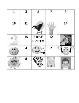 Spanish OR ESL Bingo: Numbers 1-20 and Greetings