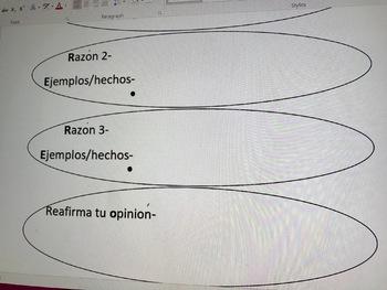 Spanish OREO opinion organizer
