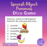 Spanish Object Pronouns Dice Game Speaking Activity