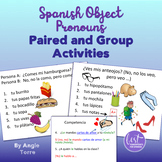 Spanish Object Pronouns Paired and Group Activities and Dice Game
