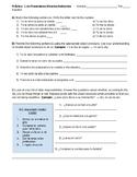 Spanish Object Pronouns Practice or Quiz