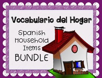 Spanish Household Items BUNDLE - La Casa, El Hogar, & Obje