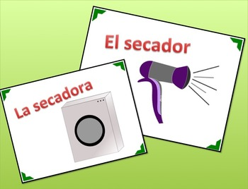 Spanish Objects in House PowerPoint - Common Household Items, La Casa y El Hogar