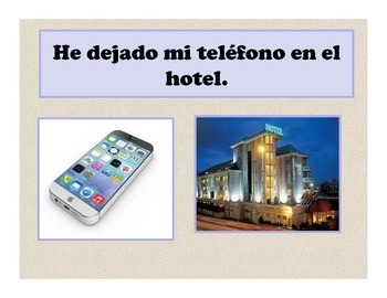 Spanish Objetos Perdidos Presentation and Activities