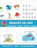 Ocean Animals- Animales del Mar {Spanish Bundle}