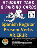 Spanish Task and Pairing Cards for Regular Present Verbs. Verbos del Presente