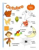 Spanish October Themed Vocabulary Bilingual Spanish ESL