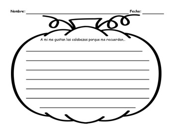 Spanish October Writing Prompts