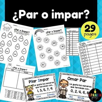 Spanish Odd & Even Activities (Par y impar actividades)
