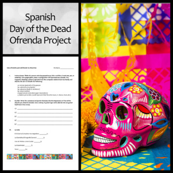 """Spanish """"Ofrenda"""" Offering/Altar Project for Day of the Dead"""