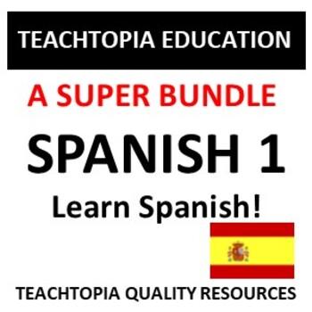 Spanish One Bundle.  Bundle for those learning Spanish.  Spanish 1 Resources