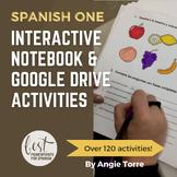 Spanish One Interactive Notebook and Google Drive Activiti