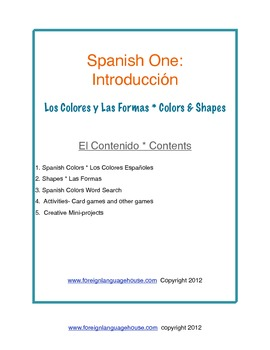 Spanish One Shapes & Colors