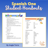 Spanish One Student Handouts or Cheat-Sheets for an Entire Year